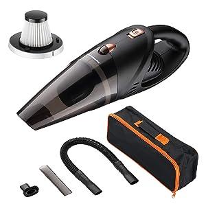 Homeleader Cordless Handheld Car Vacuum Cleaner, 3.8KPA Replacement Percolator Top, Powerful Suction Handheld Vacuum Cleaner with Carry Bag
