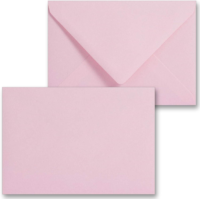 Buste formato C6 colore rosa baby gommate utilizzate per inviti 100 g//mq 114 mm x 162 mm compleanni biglietti di auguri per tutte le occasioni Confezione da 5 Rosa confetto