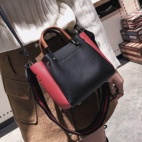 609ed3e0931fa OME QIUMEI Tasche Tasche Frau Tasche Mit Schulterriemen Schwarz  Amazon.de   Sport   Freizeit