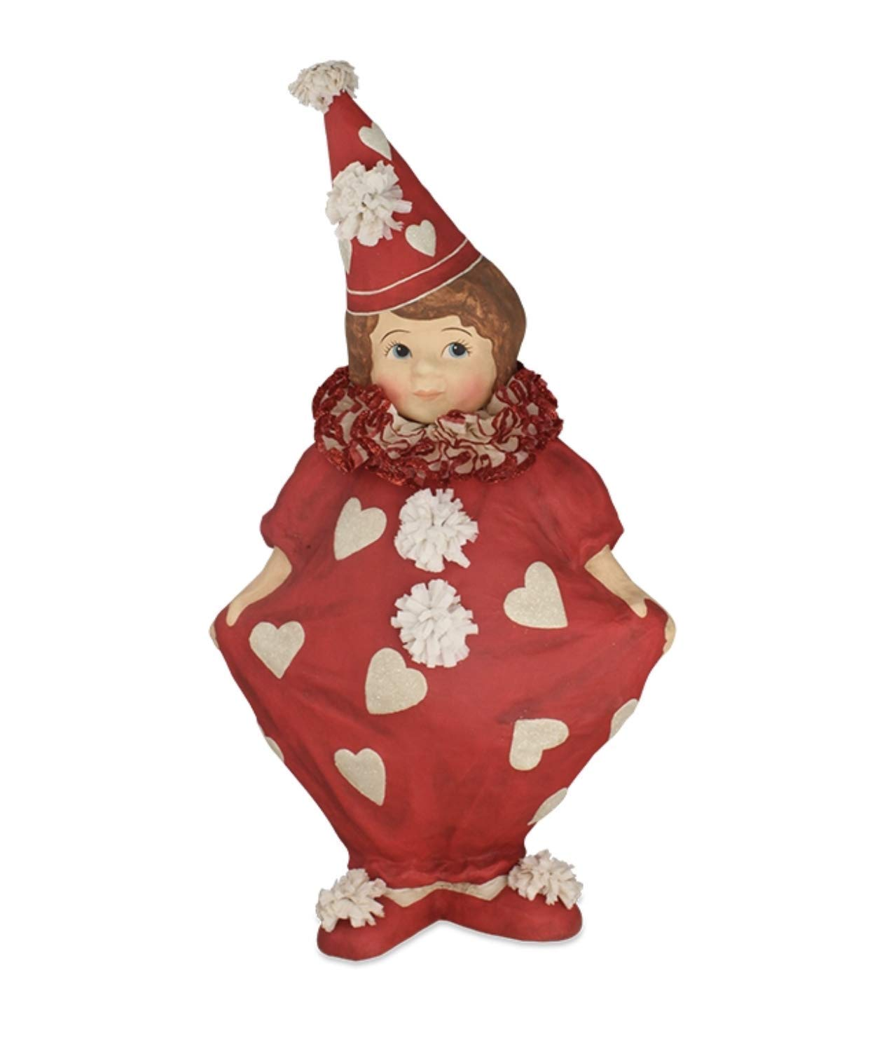 Bethany Lowe Large Valentine Clown Girl