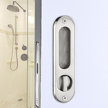 TDJDYQ Baño Puerta de Madera Puertas corredizas Cerradura mecánica Mueva la Cerradura de la Puerta Cerraduras de Hardware Adecuado para Puertas correderas Llave desbloqueada, Silver: Amazon.es: Hogar