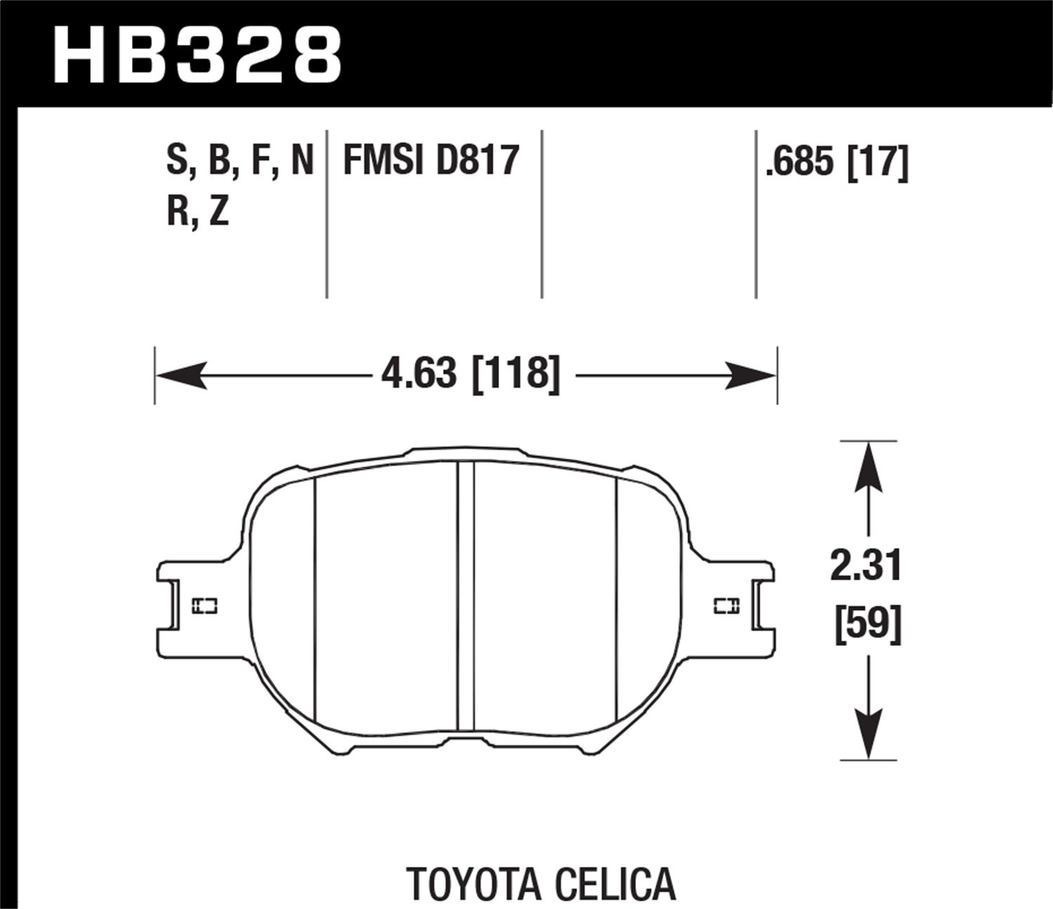 Hawk Performance HB328S.685 Disc Brake Pad