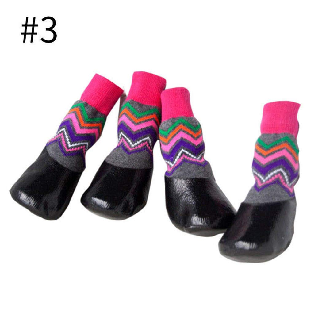 Dog Shoes,Waterproof Dog Boots Elasticity Socks Non-Slip Outdoor Feet Cover 4 Pcs for Small Medium Large Pet Puppy Large, 02