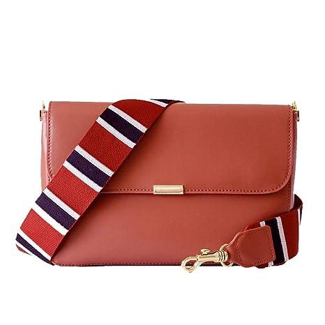 Damen Umhängetasche - Mode Eine Schulter Diagonal Tasche Breite Schultergurt Ledertasche Flip Retro Retro Messenger Bag