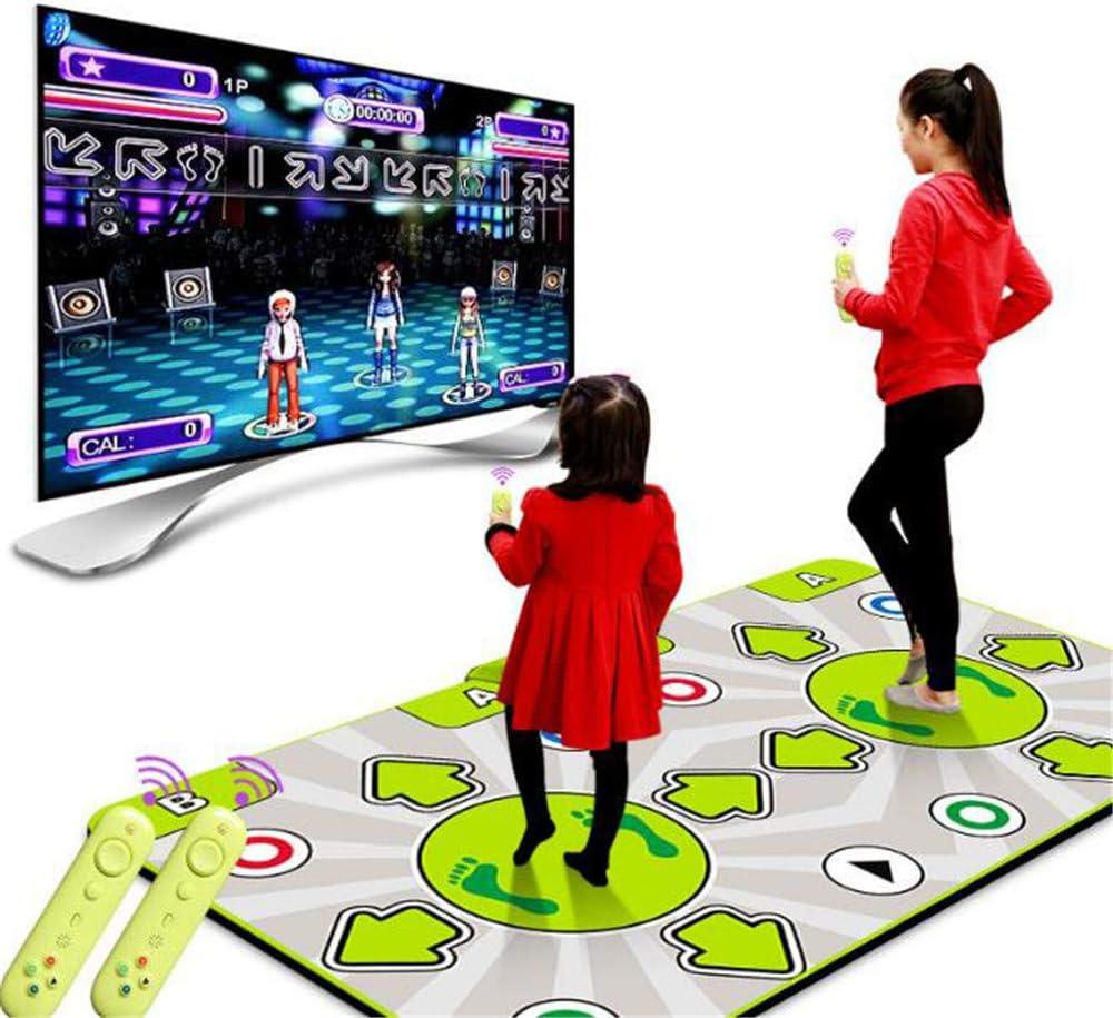 Light GCFBCL Wireless Double Dance Mat Cordless,HD Quality Non-Slip TV Computer Dual-Use Somatosensory Dance Mats for Adults Children