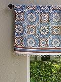 Cheap Ocean Breezes ~ Rustic Blue Brown Moroccan Beach Window Valance 46×17