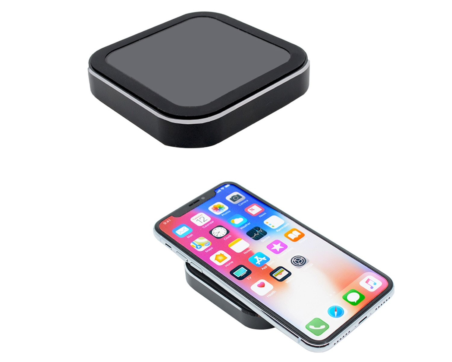 Audiology Connect Wireless Charger, Qi Wireless Charger, Qi Wireless Fast Charging Pad Stand with 5-10W Power for iPhone X, iPhone 8/8 Plus, Samsung S9/S9+/S8/S8+/S7/Note 5/8 and More