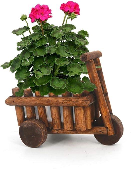 DDSTAR Maceta de Madera Creativa Maceta de jardín Planta Ventana Caja Maceta Suculenta Cama de Flores Planta de Maceta Planta de Flores Decoración del Festival: Amazon.es: Jardín