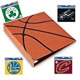 Hoopz 3-Ring Binder - Textured Basketball Binder - Basketball Card Binder