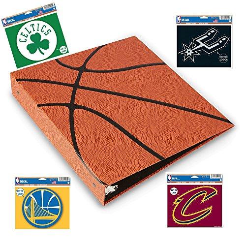 (Hoopz 3-Ring Binder - Textured Basketball Binder - Basketball Card Binder)