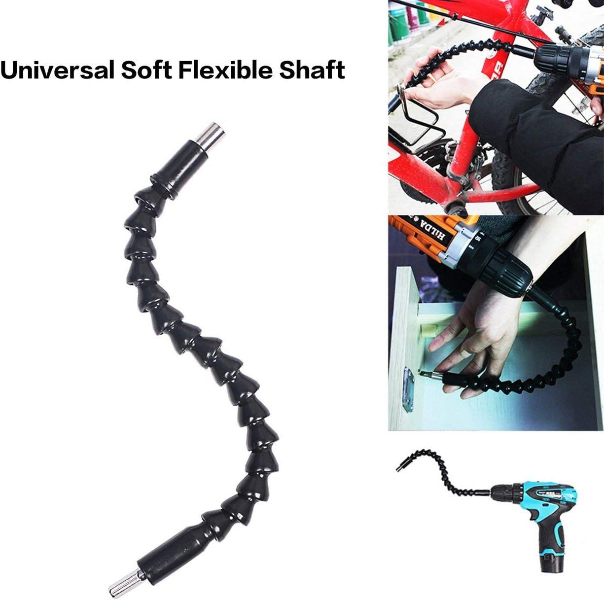 JIUY Electric Drill Flexible Shaft Screwdriver Universal Soft Flexible Shaft Electric Screwdriver Batch Extension Drill Bit Holder Black