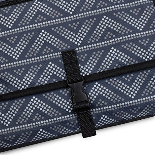 Mesh and Zippered Pockets Diaper Clutch Detachable and Wipeable Mat Entirely Padded Gray Dots Lightweight Travel Station Kit for Baby Diapering Crystal Baby Smile Portable Changing Pad