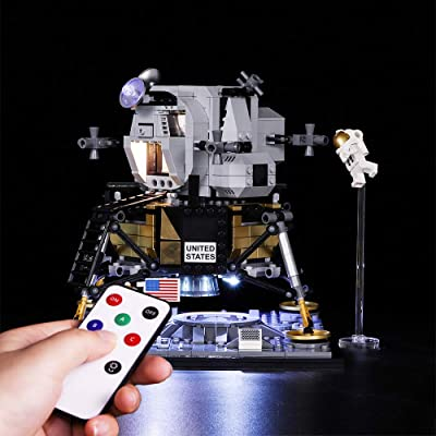 Vonado LED Light Kit for Lego 10266 NASA Apollo 11 Lunar Lander Lighting Set Building Blocks Toys Indoor Interior Christmas Halloween Festival Gift((Not Include Lego Set)): Toys & Games