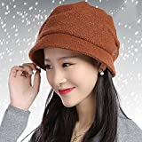 XUEXIN Hat woman Korean version of the wave berets hat autumn and winter cap warm old fisherman hat