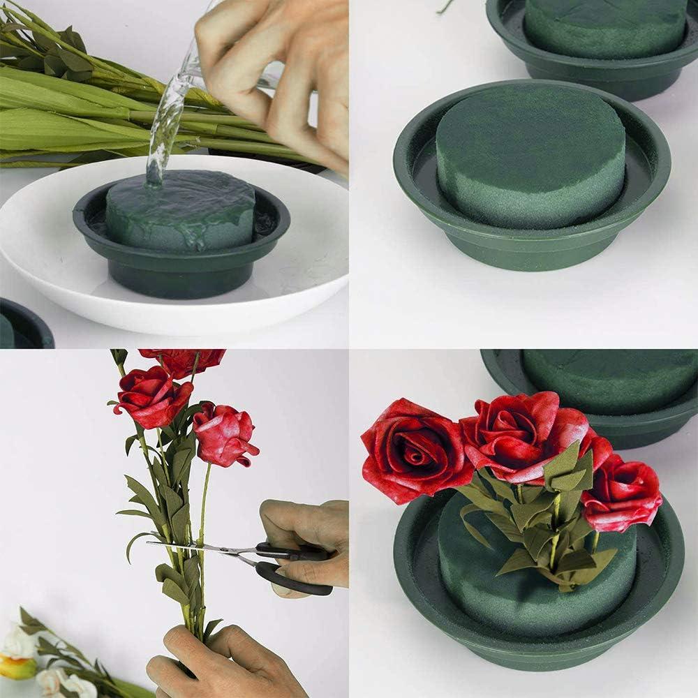 decorazioni per matrimoni Kit per composizioni floreali decorazione da tavola verde e secca con base in schiuma accessori per fioristi Lifreer con ciotola per decorazioni floreali rotonda