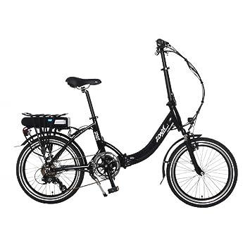Bicicleta Eléctrica Plegable E-Bike Zonix Smart Marco de Aluminio Shimano Nexus 7 Velocidades Negro