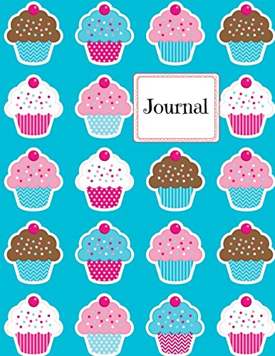 Journal: Blue Cupcakes Large Notebook