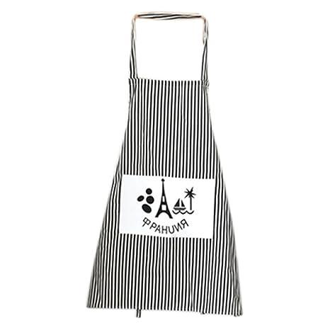 Gespout Chef Delantales Algodón Cocinero Cocinando Camarero Delantales Café Barbacoas Cocina Hotel Accesorios Mujeres Apron con
