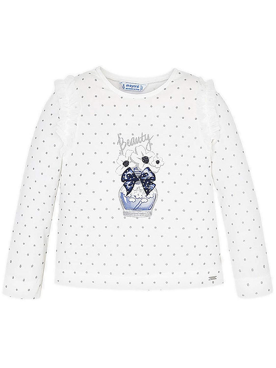 Mayoral L//s t-Shirt for Girls 4007 Navy