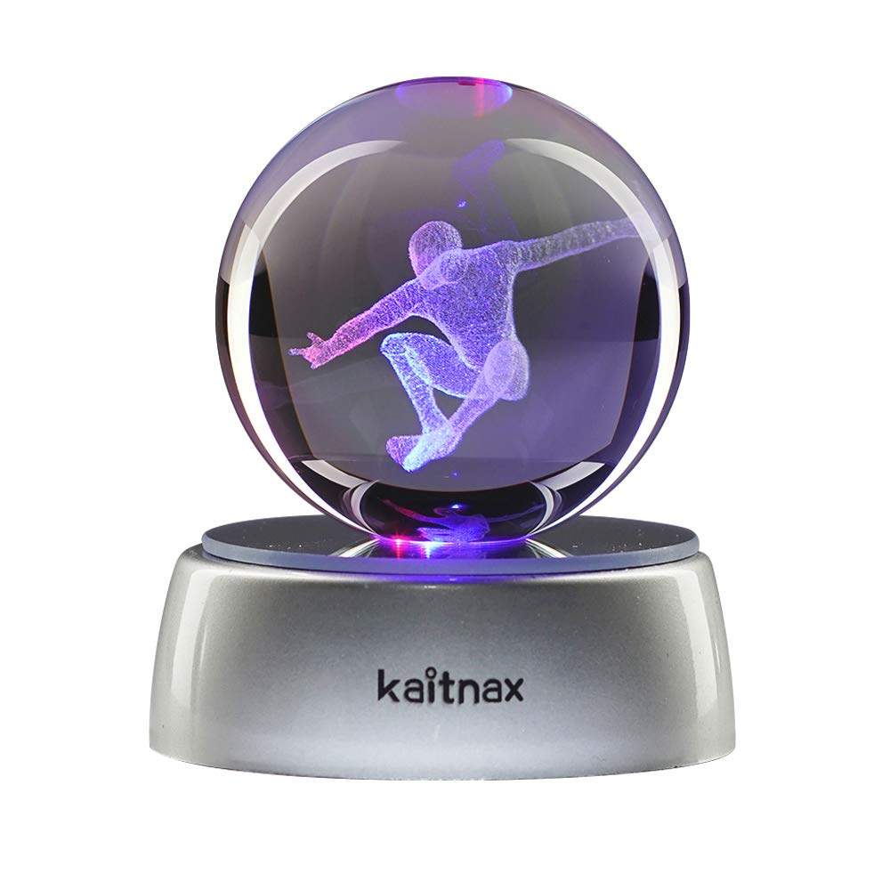 Spider-Man Kaitnax 3D Laser Etched Crystal Ball(50mm) Puzzle with LED Base spider man kn-0012
