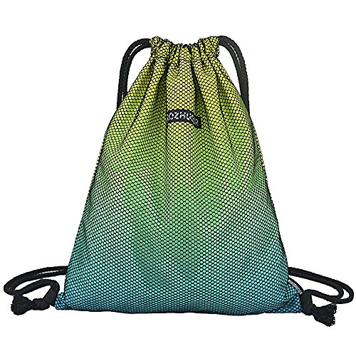 GADEWAKE Men & Women Sport Gym Sack Drawstring Backpack Bags Travel Storage Gradient Color Sackpack Shoulder Bags