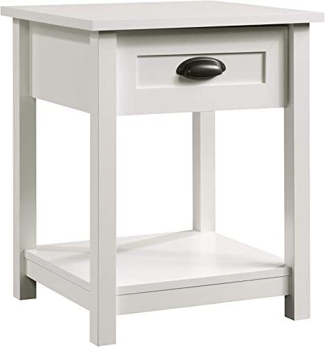 Sauder County Line Night Stand, Soft White finish