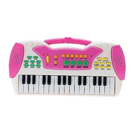 """Andoer 10"""" 32 teclas multifuncional Mini teclado electrónico música dibujos animados educativos Electone regalo juguete"""
