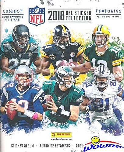 2018 Panini NFL Football Stickers HUGE 72 Page Color Collectors Album with 10 MINT Stickers! Every Team Features a 2 Page Color Spread! Great Collectible to House your New NFL Stickers! WOWZZER!