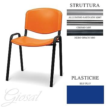 Giosal - Silla con asiento de plástico para sala de espera u oficina ...