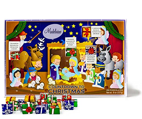 Madelaine Chocolate Countdown to Christmas Advent Calendar -Christmas Pageant, 24 count