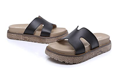 099921a687e Image Unavailable. Image not available for. Color  Women s Cross Strap  Footbed Platform Sandal ...