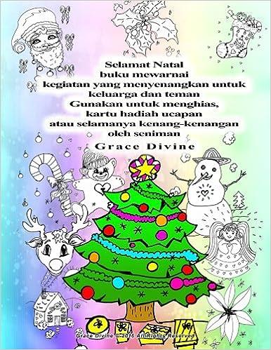 Amazoncom Selamat Natal Buku Mewarnai Kegiatan Yang Menyenangkan