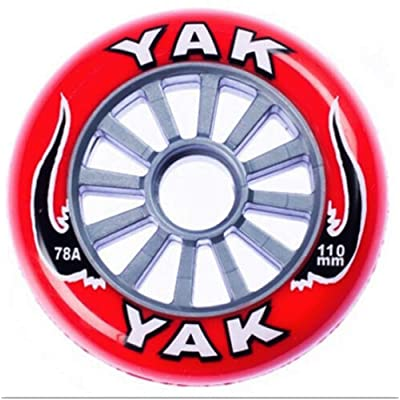 Yak 110mm x 78a Classic Inline/Race/Scooter Multi-Purpose Wheel, 10 Wheels (Silver core) : Sports & Outdoors
