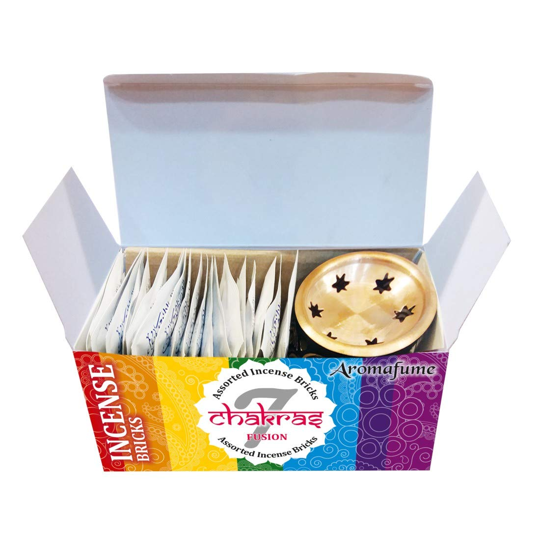 Aromafume 7 Chakra Incense Bricks Starter Kit containing Tree of Life Exotic Incense Diffuser (Gift Set). Ideal for Meditation, Purification, Yoga, Chakra Alignment, Relaxation, Healing & Rituals by Aromafume (Image #5)