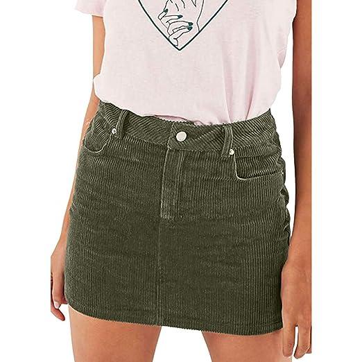 188709da0 Amazon.com: MOSERIAN Womens Skirt Summer Sexy Slim Corduroy Short High Waist  Bodycon Pencil Mini Skirt: Clothing