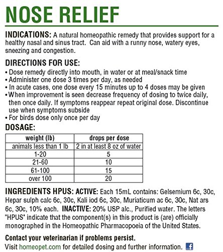HomeoPet Nose Relief, 15 ml by HomeoPet (Image #2)