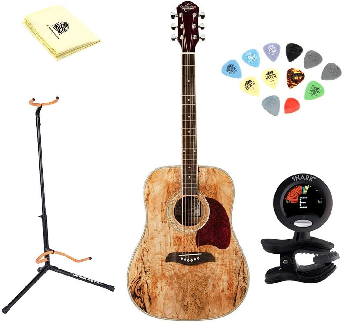 Oscar Schmidt OG2SM Guitarra Acústica – madera de arce) con gamuza ...