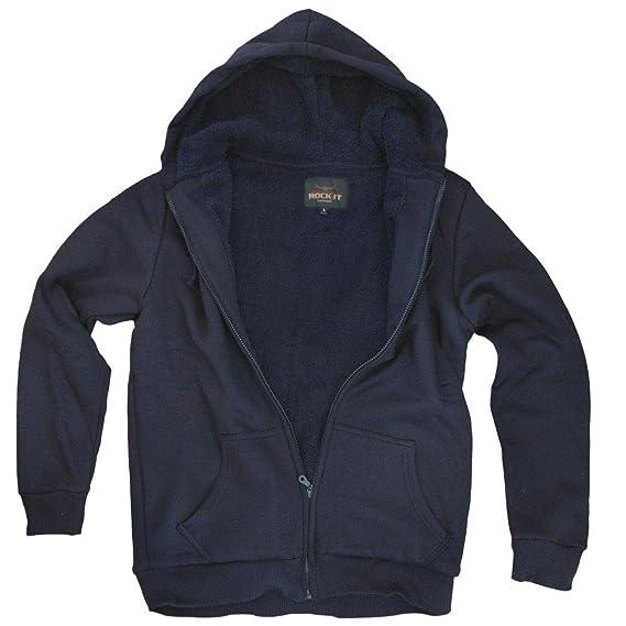 ROCK-IT, chaqueta de invierno de los hombres con capucha, con capucha, con capucha forrada Workerhoodie, en tamaños XS-5XL - Negro: Amazon.es: Ropa y ...