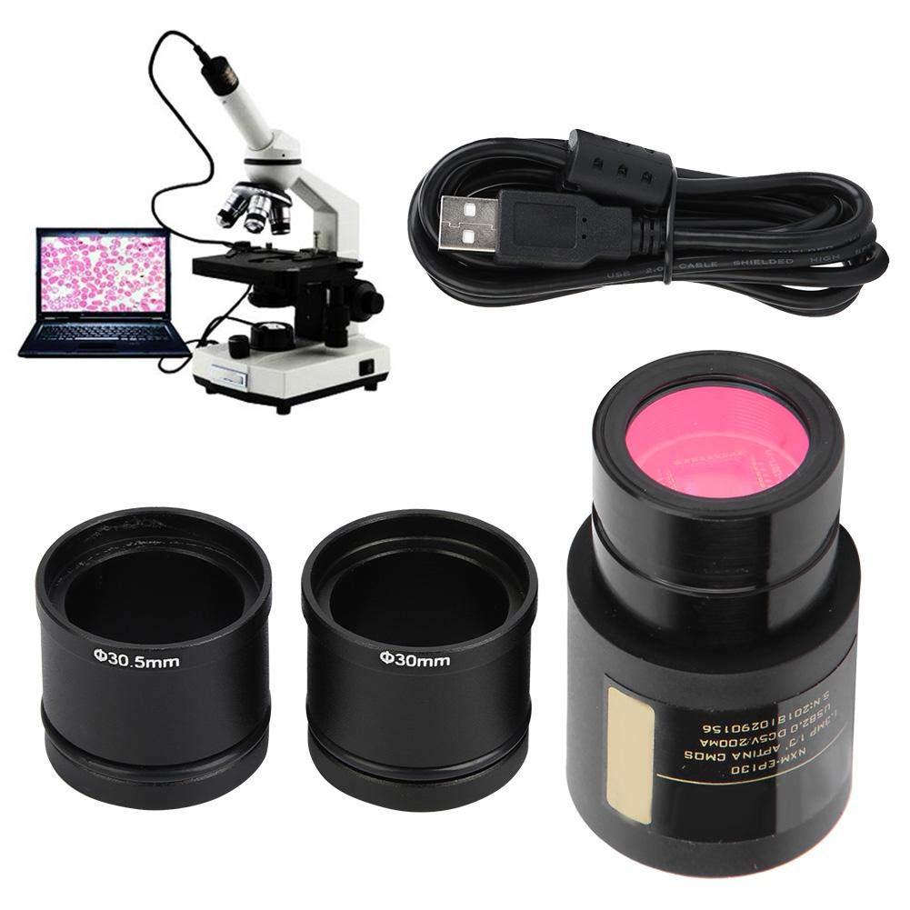 Plug And Play oculare elettronico USB 2.0 da 1,3 MP con Due Anelli adattatori per microscopio 23,2 mm 30,0 mm 30,5 mm Topiky Oculare elettronico per microscopio
