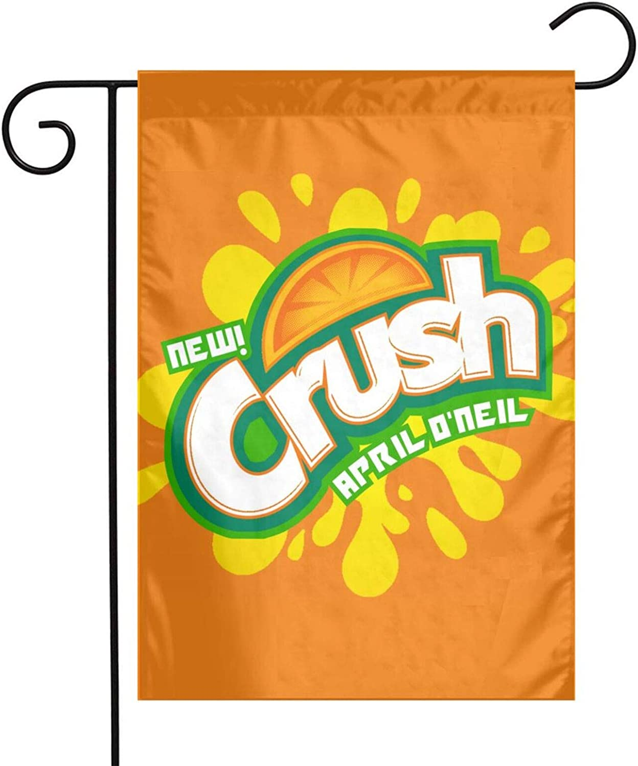 Guoguoding Orange Crush Garden Flag-12x18 Home Garden Outdoor Decorations