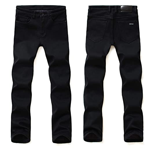 Men Jeans Pants Pantacourt Homme Mens Classic Black Ofertas ...