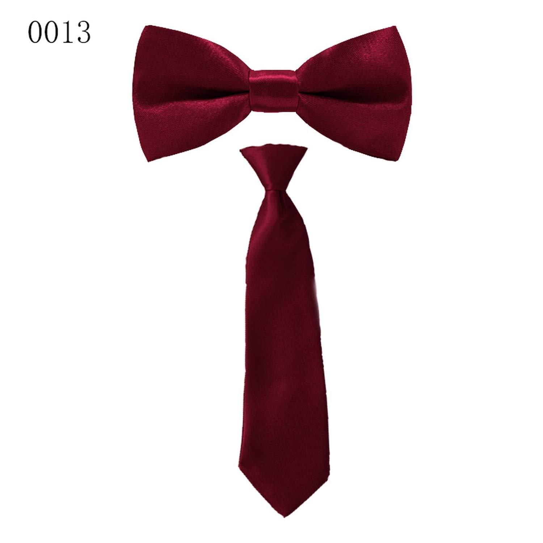 35 Colors Children Bow Tie Baby Boys Bow Ties Kid Ties Accessories Solid Color Gentleman Neck Tie