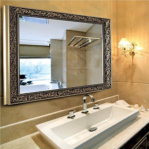 Vanity Bathroom Mirrors for wall (38in by 26in) - Ornate Bathroom Vanity