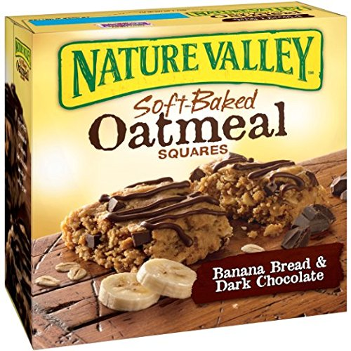 Nature Valley Soft-Baked Oatmeal Squares, Banana Bread and Dark Chocolate, 6 Count, 1.24 oz (Pack of 3) by Nature Valley