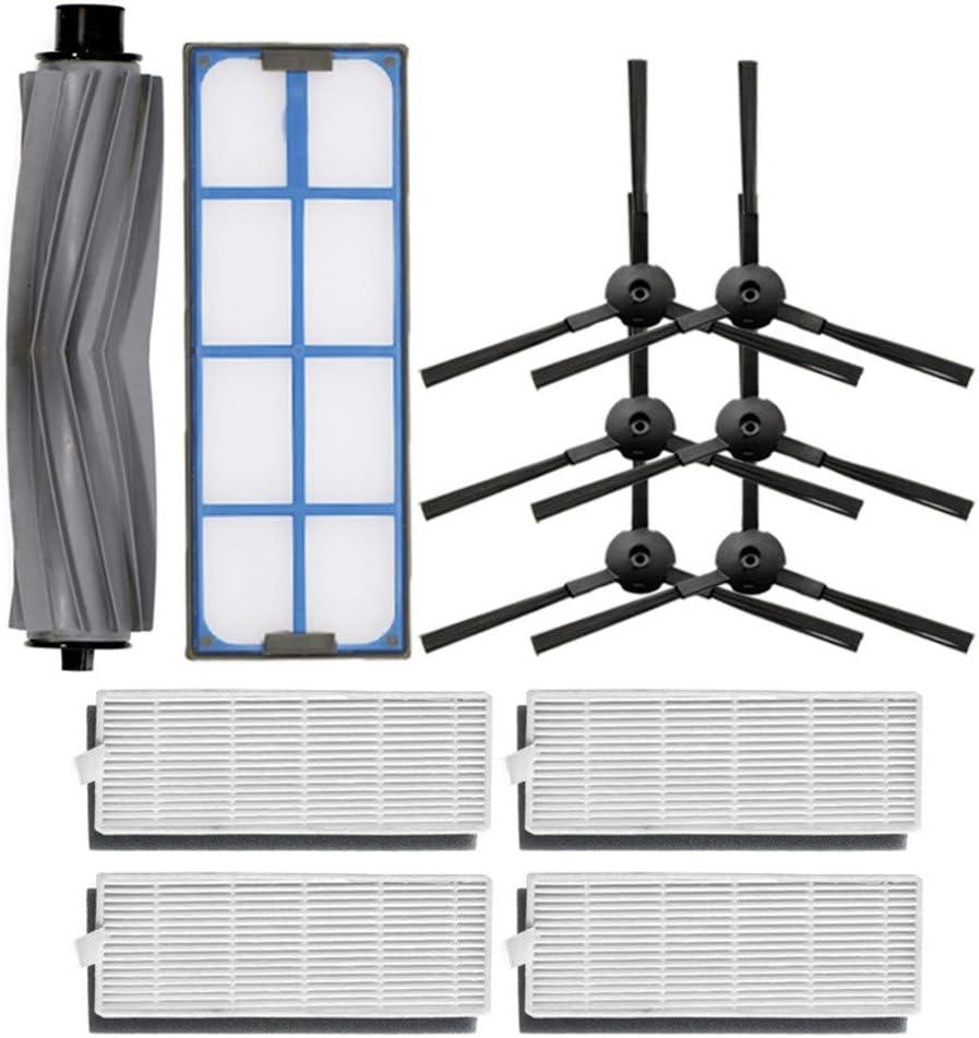 HSKB Kit de limpieza de cepillos filtros, piezas de repuesto para aspiradora, cepillos laterales, cepillo de rodillo, filtro primario para Ilife A8 A6 X620 X623 Robot Vacuum: Amazon.es: Hogar