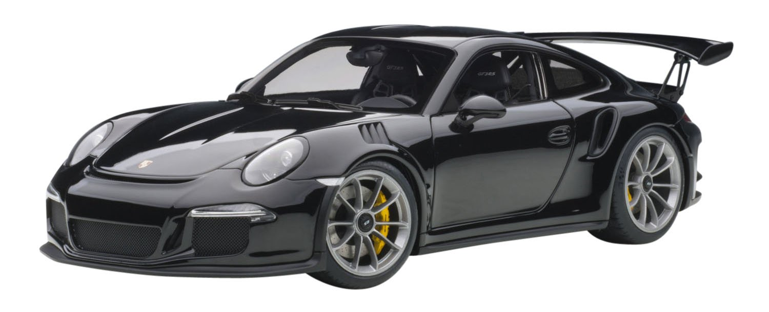 Unbekannt 78164 Porsche 991 GT3 RS (Gloss Black/Black Wheels) 1:18 Autoart