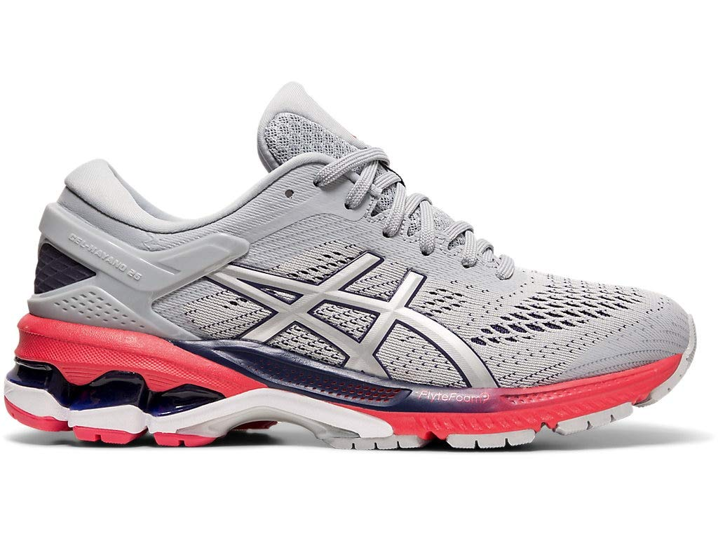 ASICS Women's Gel-Kayano 26 Running Shoes, 5.5M, Piedmont Grey/Silver