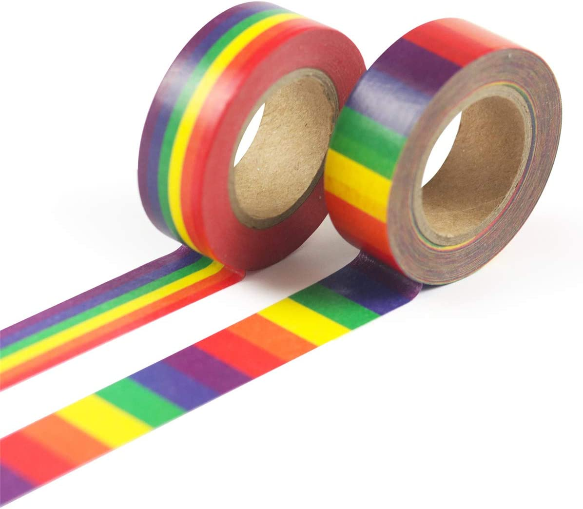 Y-QUARTER 1PC Colored Rainbow Washi Tape School Supplies Stationery Tape for Office Stationery,15mm