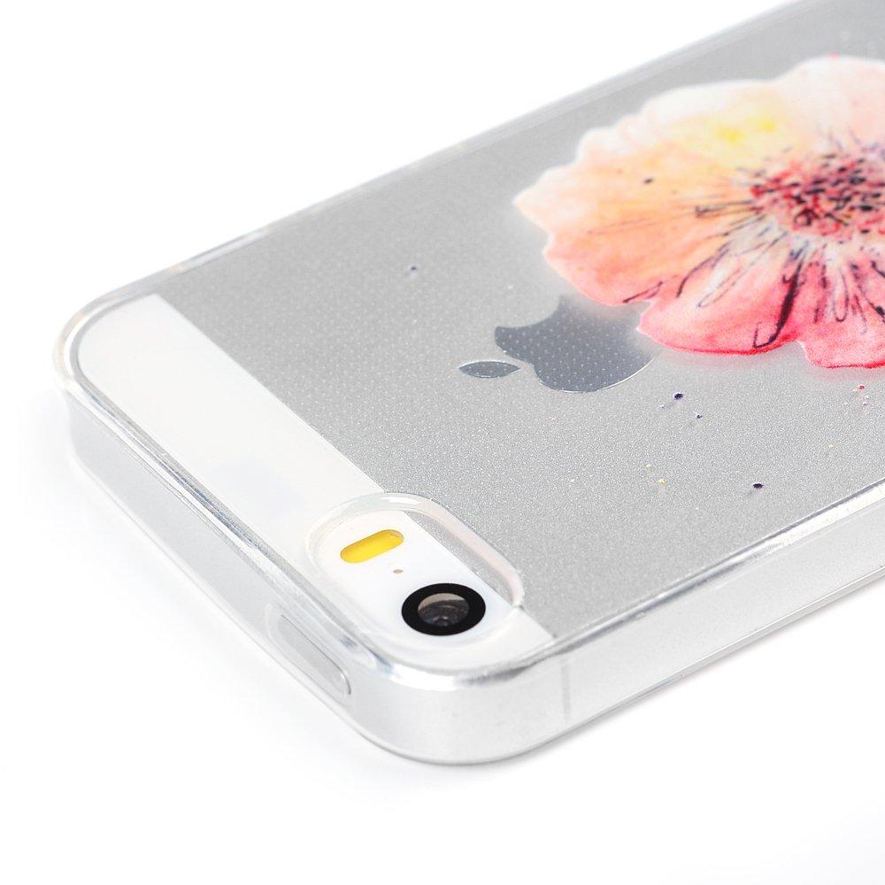 e6c07d87b1 ... iPhone SE Handyhülle iPhone 5S 5 Hülle Case Cover Transparent Silikon  Weich Tasche Durchsichtige Schutzhülle Handytasche ...