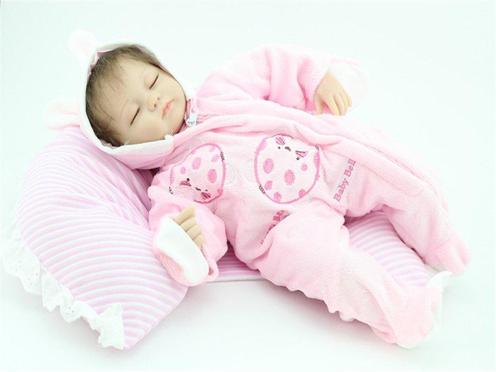 ZIYIUI 18 Zoll Lebensechtes Schlafen Puppe Reborn Babypuppe Silikon Mädchen Reborn Babys Doll Kinder Spielzeug Anzug B07P95BHB6 Babypuppen Zu verkaufen | Ästhetisches Aussehen